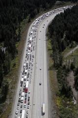I-90, Labor Day westbound traffic