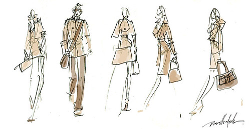 Fashion Show Drawings Are From The Rudsak Show