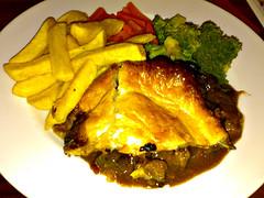 Steak Pie & Chips at The Bridge Inn, Ratho, Edinburgh