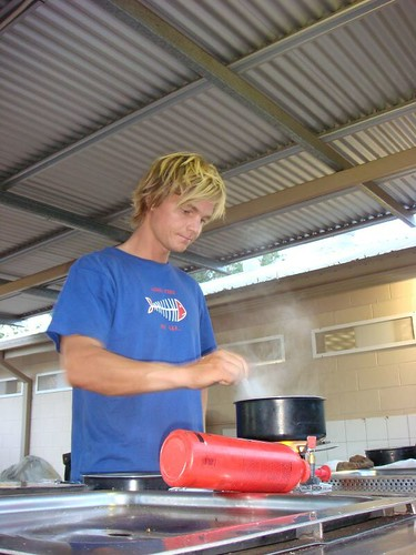 Cooking at the Wintersun Caravan Park, Alice Springs.