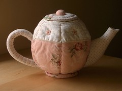 Quilted Teapot (PatchworkPottery) Tags: tea handmade sewing crafts country fabric quilted teapot patchwork