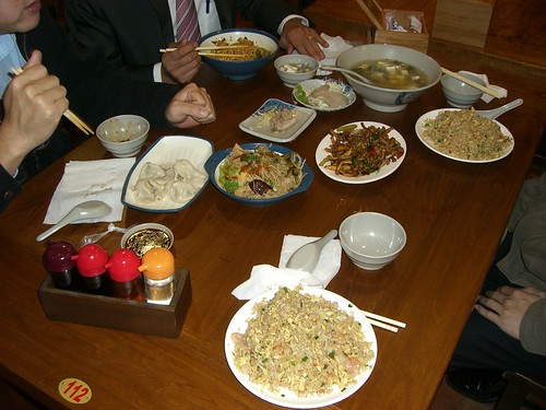 Food at the restaurant in Jhubei