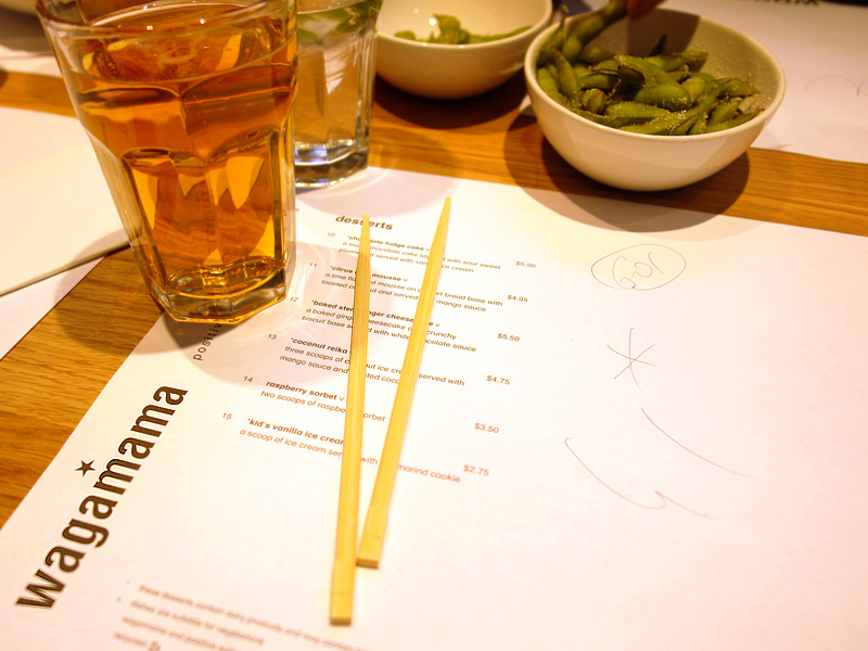 back at Wagamama!