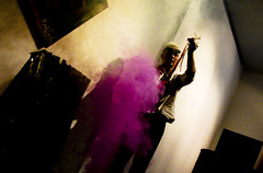 Purple smoke