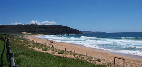 Looking north from Palm Beach to Barrenjoey Head & the Bouddi Peninsula