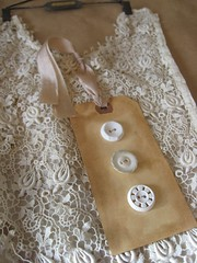 Antique Lace (littlethings1) Tags: vintage lace antique buttons ooak wallart hanger creamy ecru