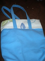 blue tote