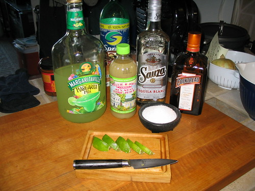 Mix, Lime Juice, Tequila, Cointreau