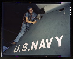 Lorena Craig is cowler under civil service at the Naval Air Base, Corpus Christi, Texas  (LOC)