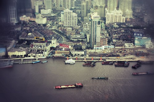 From the top of the Oriental Pearl Tower, Shanghai