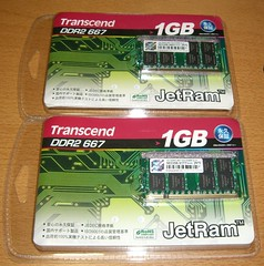 トランセンド ノート用DDR2 メモリ