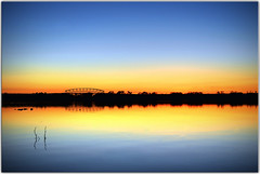 Serenity Now (Extra Medium) Tags: bridge sunset lake sticks scenery peaceful norcal hdr serenitynow campfarwestlake