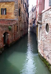 Venetian Canal (adraskoy) Tags: 2005 venice italy brick water canal europe may walls venezia mywinners