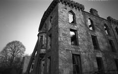 B2030812 (gmpicket) Tags: old nyc blackandwhite abandoned architecture ruin historic pinhole urbanexploration gothamist 2008 asylum ilford rooseveltisland renwick smallpoxhospital panf blackwellsisland