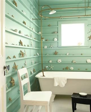 Blue colors Bathroom interior design