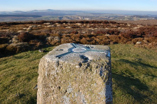 Metal plate on trig point