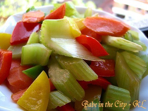 Stir-fried Celery Vegetarian Style