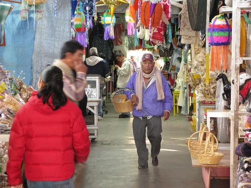 Market arcade in Piedras Negras, Mexico