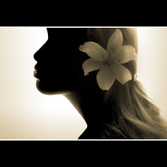 Du'a Khalil (ilina s) Tags: portrait selfportrait beauty silhouette closeup sepia self studio square daylight lily profile lifestyle naturallight blond lilly 200 backlit sideview nefertiti lookingaway contemplation caucasian mixedrace headandshoulders fragility littlestories supershot ilina flickrchallengegroup flickrchallengewinner megashot ilinas picswithsoul