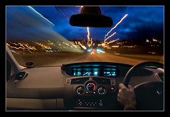 38 mph (Roger.C) Tags: road light car wheel night canon dark mirror bravo steering trails renault dash dashboard 1855mm 30d platinumphoto aplusphoto platinumheartaward betterthangood clevercreativecaptures