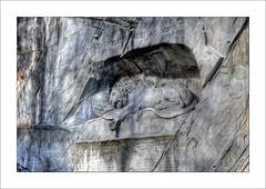 HELVETIORIUM FIDEI AC VIRTUTI (Toni_V) Tags: sculpture monument schweiz switzerland europe tripod luzern 2008 lucerne hdr gitzo d300 sigma1020mm lwendenkmal lionmonument photomatix 5exp tthdr toniv gt1540 toniv 07032008