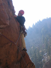 Mark Placing Pro on Windy Ridge in Eldo