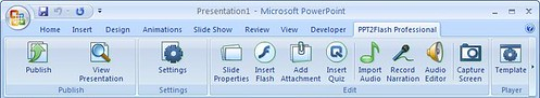 PPT2Flash Professional in PowerPoint 2007
