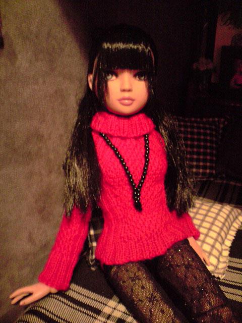 CharlIE :)) dans un beau pull rouge tricoté par Nadine :) Page 2 et 3 :) 2374388011_f3550c2f4c_o