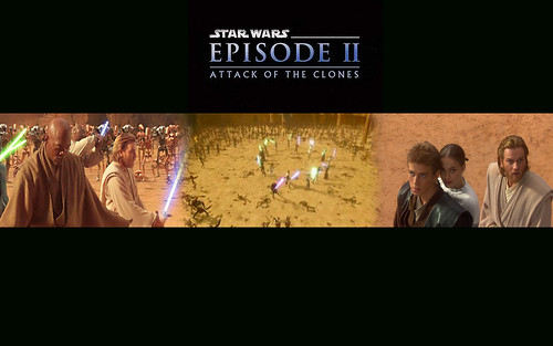 Star Wars episode 2, Attack of the Clones banner wallpaper #2, star wars wallpapers, starwars enterprise voyage