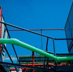 Pipes & Colors (al greco) Tags: blue sky color industry 120 tampa industrial kodak pipes ii pronto 160vc portra zone isolette floridaagfa