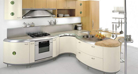 Americana kitchen from Gemmegi, the unusual kitchen design inspired