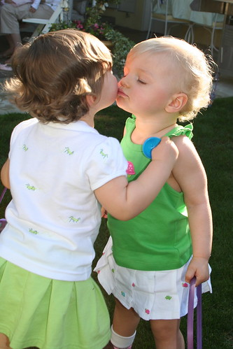 Kaitlin and Ella kissing