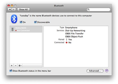 System Preferences -> Bluetooth