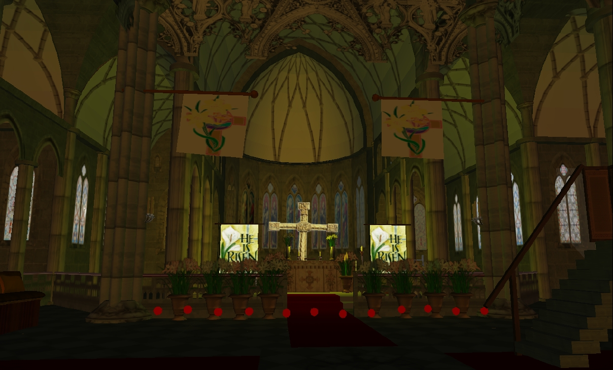 The altar at the Anglican Cathedral, Epiphany Island.