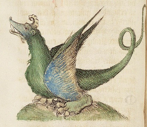 The Hague KB 72 A 23 fol 47v- Dragon