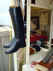 Lady's Riding Boots (Svadilfari) Tags: reflection ma mirror boots massachusetts equestrian antiqueshow brimfieldma ridingboots brimfieldfair brimfieldmassachusetts ladysboots brimfieldmass brimfieldantiqueandcollectibles ladysridingboot