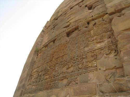 Stone carvings on stupa