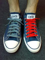 Blue Pill Or Red Pill (iancul) Tags: colours converse allstar chucks laces chucktaylor n73 choiceconversechucksallstarchucktaylorlacescolours