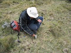 Peter gathering fecal sample (sluggo5) Tags: ethiopia menz guassa