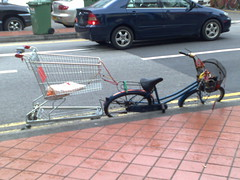Most innovative use of a stolen supermarket trolley