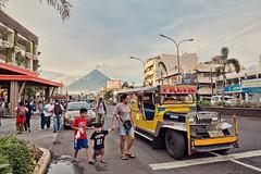 Heart of Legazpi (315Edith) Tags: canon 70d evening mayonvolcano legazpicity albay philippines jeepney