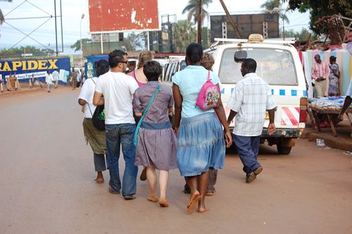 walking the streets of jinja