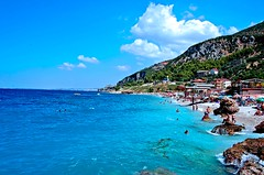 jonufer beach-vlore-albania (Godo-Godaj) Tags: sea summer holiday hot beach jon place blu albania vere turist deti shqiperia vlore d40 jonufer