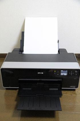 PX5Vに和紙をセット