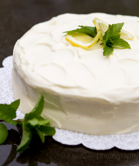 Lemon Curd & Cream Layer Cake | The Craving Chronicles