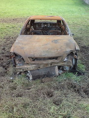 Car Wreck (Kapungo) Tags: broken field grass car rust mud rusty smashed wreck destroyed wreckage