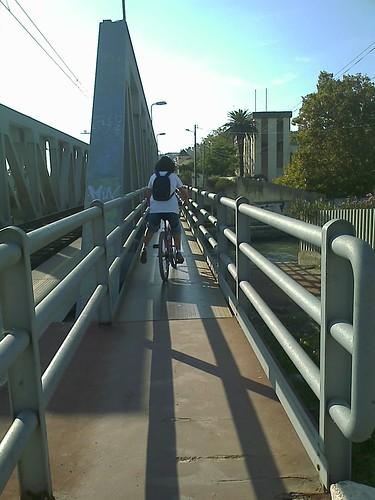 Sobre a ponte Férrea