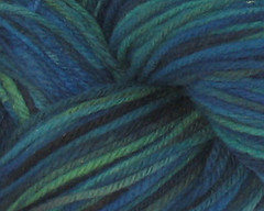 Starless Night on Rambouillet Worsted  + Black Trim - 6 oz  (WW)