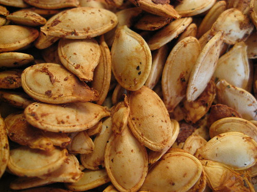 Roasted pumpkin seeds!