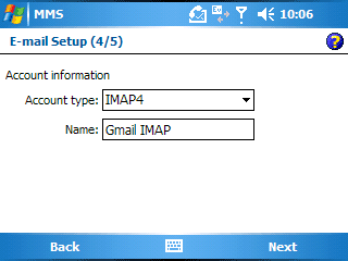 Gmail imap on windows pocketpc – jason pearce.